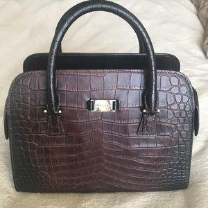 Michael kors Gia satchel maroon/burgundy snakeskin